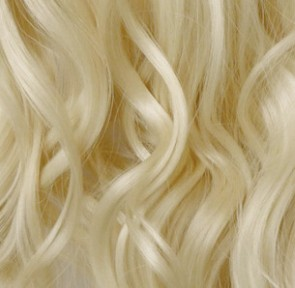 """24"""" Clip in Hair Extensions CURLY Lightest Blonde #60 FULL HEAD 8pcs 150g"""