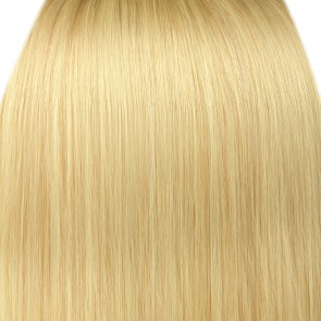 18 Inch Clip in Hair Extensions Straight 8pcs - Light Blonde #613