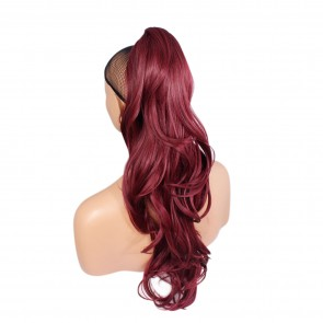 "22"" PONYTAIL FLICK Burgundy REVERSIBLE Claw Clip"