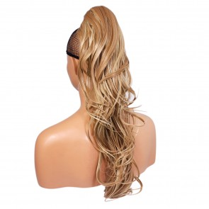 22 Inch Ponytail Flick Claw Clip - Blonde Mix #18/613