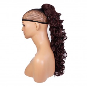 "22"" PONYTAIL CURLY Cheryl Cole Red #99J REVERSIBLE Claw Clip"