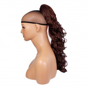 "22"" PONYTAIL CURLY Dark Auburn #33 REVERSIBLE Claw Clip"