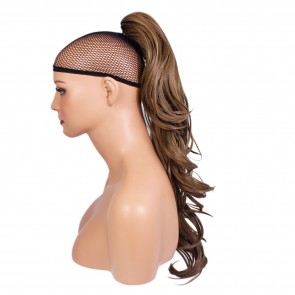 22 Inch Ponytail Flick Claw Clip - Light Chocolate Brown