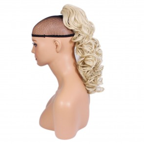"17"" PONYTAIL CURLY Light Blonde #613 REVERSIBLE Claw Clip"