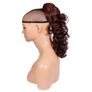 "17"" PONYTAIL CURLY Dark Auburn #33 REVERSIBLE Claw Clip"