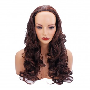 22 Inch Ladies 3/4 Wig Wavy - Auburn Mix