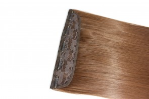 15 Inch Clip in Hair Extensions Straight 8pcs - Chestnut Brown