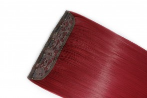 18 Inch Clip in Hair Extensions Straight 8pcs - Pillar Red