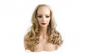 22 Inch Ladies 3/4 Wig Wavy - Blonde Mix #18/613