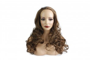 22 Inch Ladies 3/4 Wig Wavy - Light Brown