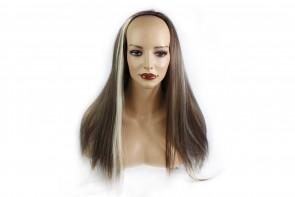 22 Inch Ladies 3/4 Wig Straight - Medium Brown/Blonde #6/613
