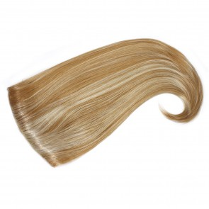 22 Inch Ladies Half Wig Straight Flick Ends - Blonde Mix #18/613