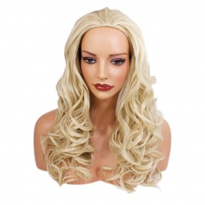 22 Inch Ladies 3/4 Wig Wavy - Light Blonde
