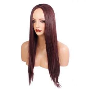 "22"" Ladies 3/4 WIG Half Fall STRAIGHT Cheryl Cole Red #99J"