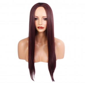 22 Inch Ladies 3/4 Wig Straight - Cheryl Cole Red #99J