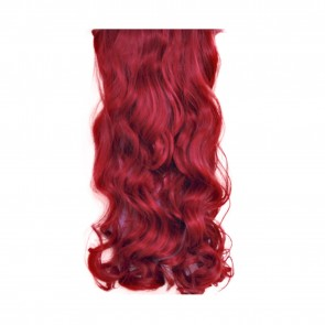 "20/22"" Clip in Hair Extensions CURLY Pillar Red FULL HEAD 8pcs"