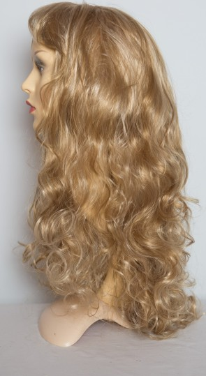 "22"" Ladies Full Length Long WIG CURLY Blonde Mix #18/613"
