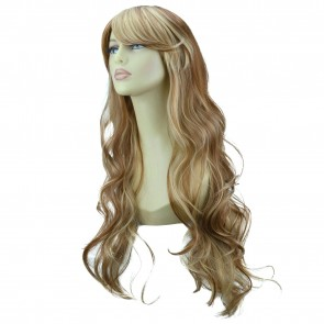 22 Inch Ladies Full Wig Loose Waves - Medium Brown/Blonde #6/613