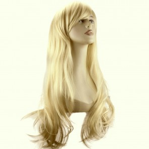 "20"" Ladies Full WIG Long Hair Piece FLICK Style Light Blonde #613"