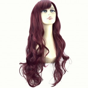 "22"" Ladies Full WIG Long Hair Piece LOOSE WAVES Cheryl Cole Red #99J"