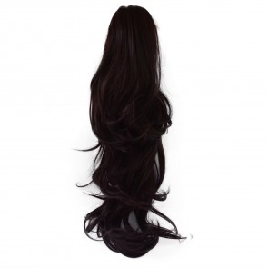 22 Inch Ponytail Flick Claw Clip - Dark Plum