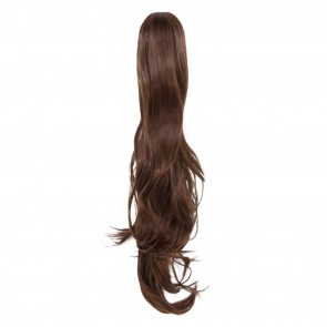 22 Inch Ponytail Flick Claw Clip - Chocolate Brown