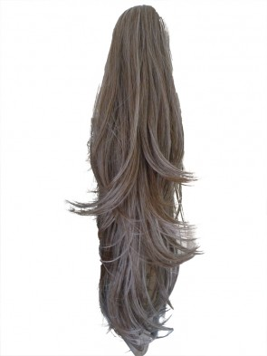 22 Inch Ponytail Flick Claw Clip - Light Ash Brown #10
