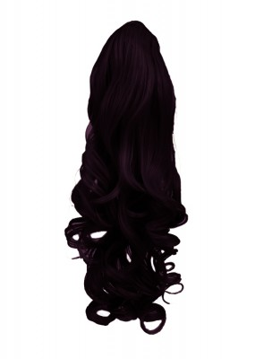 "22"" PONYTAIL WAVY Dark Plum #99J/1 REVERSIBLE Claw Clip"
