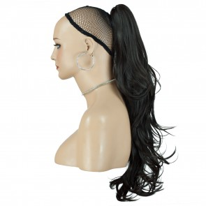 22 Inch Ponytail Flick Claw Clip - Dark Brown