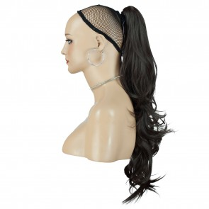 22 Inch Ponytail Flick Claw Clip - Medium Brown