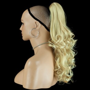 22 Inch Ponytail Wavy Claw Clip - Light Blonde #613