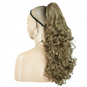 "22"" PONYTAIL CURLY Light Brown #12 REVERSIBLE Claw Clip"