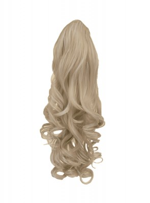 """22"""" PONYTAIL WAVY Champagne Blonde #22 REVERSIBLE Claw Clip"""