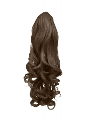 22 Inch Ponytail Wavy Claw Clip - Light Brown