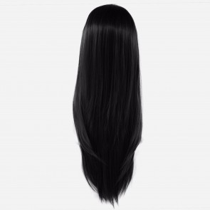 22 Inch Ladies 3/4 WIG Half Fall STRAIGHT Jet Black #1