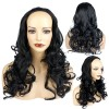 22 Inch Ladies 3/4 Wig Wavy - Jet Black