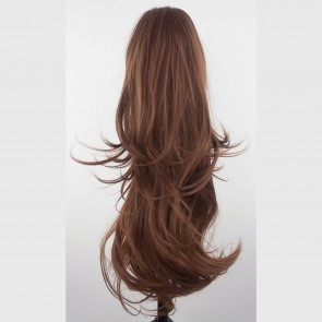 22 Inch Ponytail Flick Claw Clip - Chestnut Brown