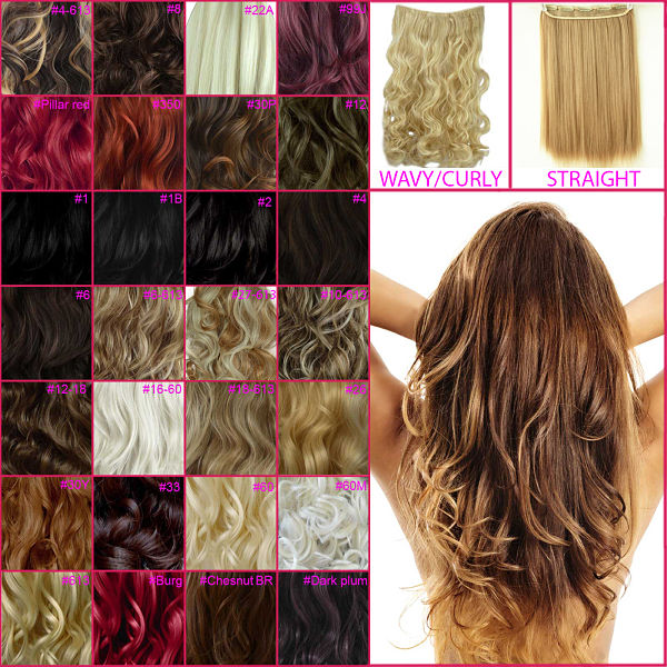 20 23 One Piece Clip In Hair Extensions Curly Wavy Straight All