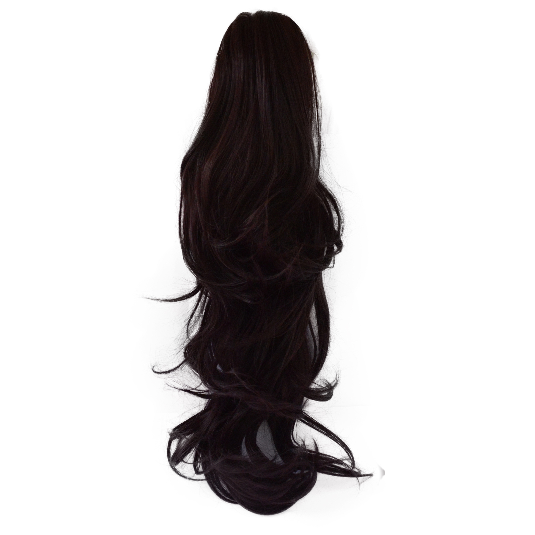 22 Quot Ponytail Clip In Hair Extensions Flick Dark Plum 99j