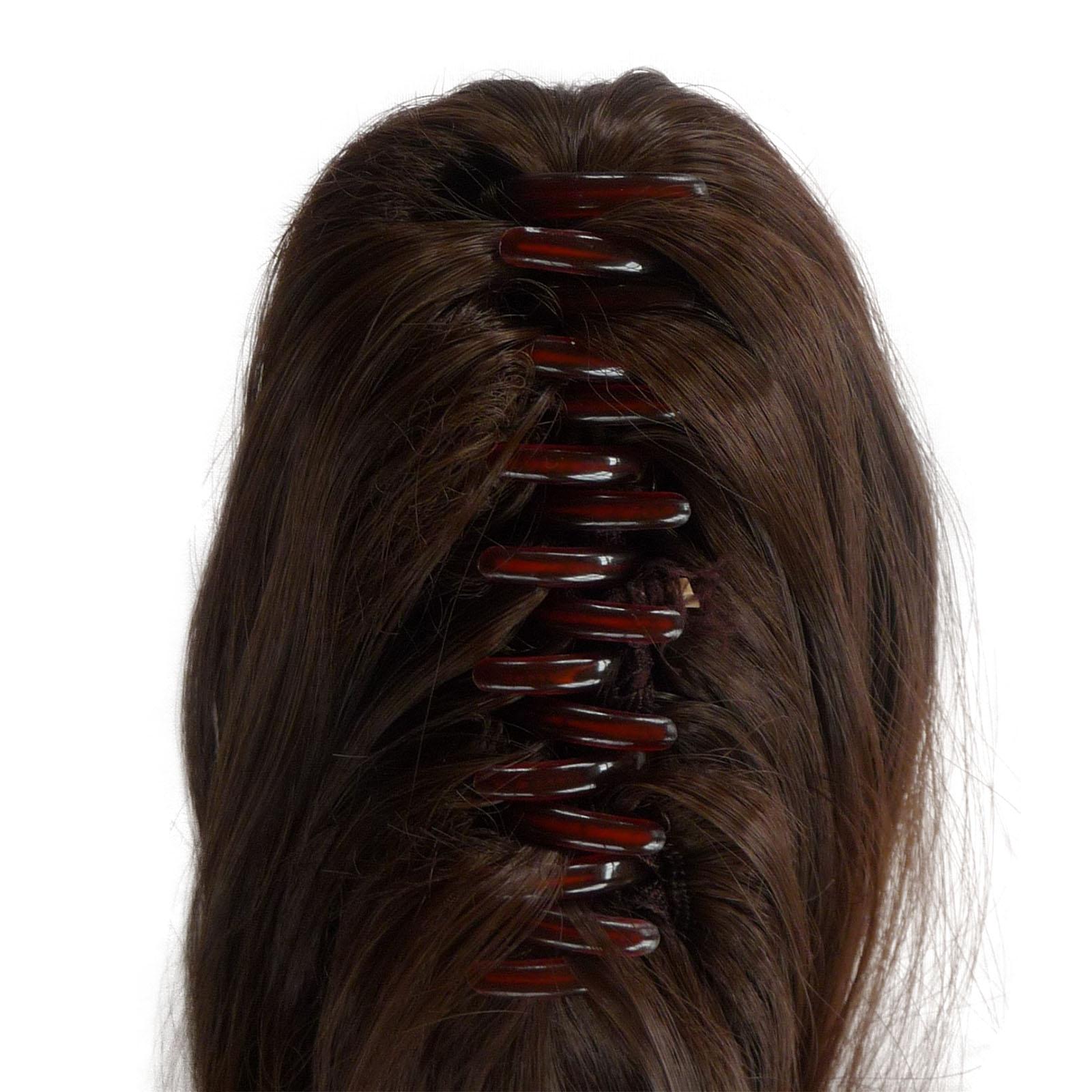 Pferdeschwanz Clip in Hair Extensions Light Ash Brown 9 ...