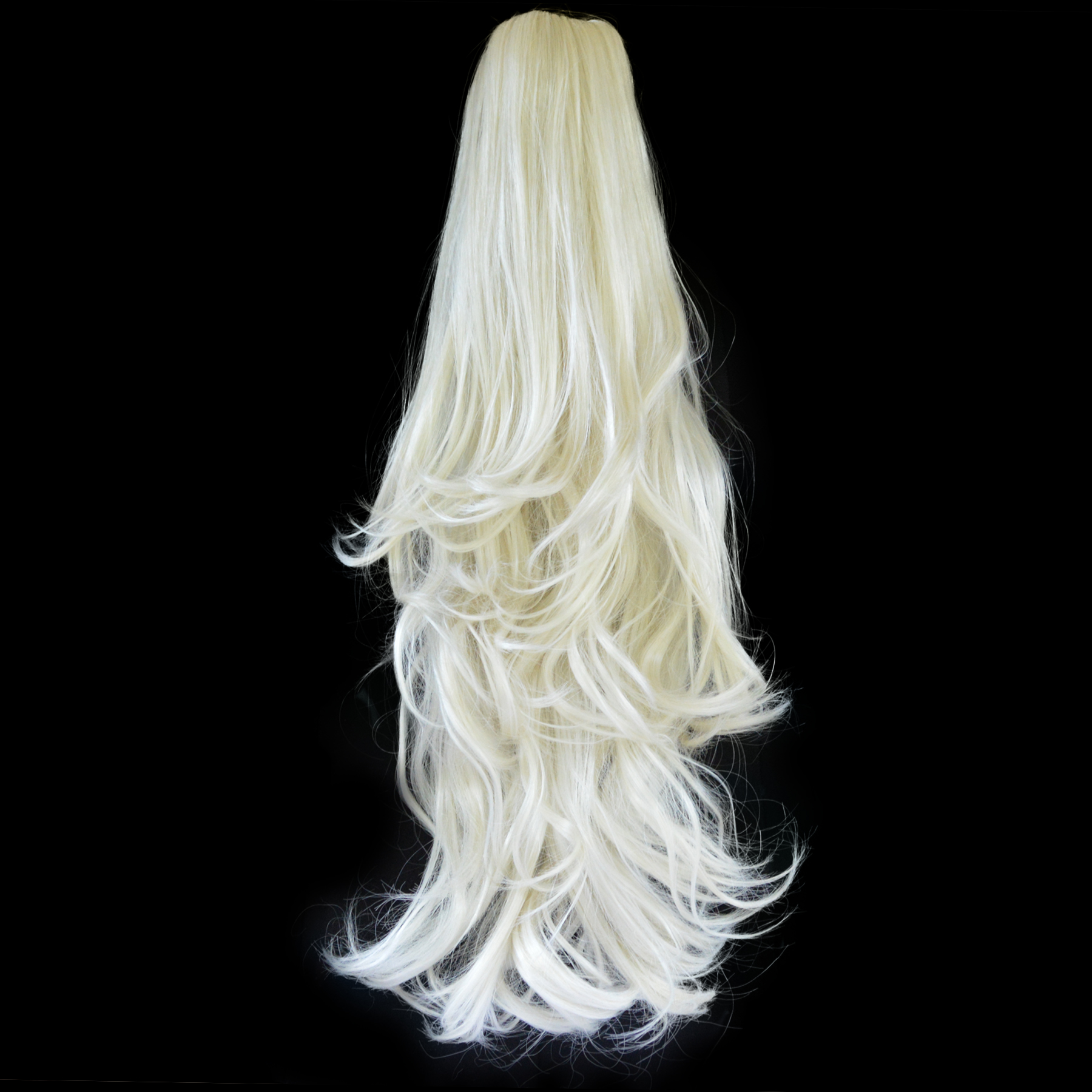 Ponytail Clip In Hair Extensions Platinum Blonde 1660 Reversible 4